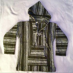 Sweaters - Authentic Mexican drug rug Baja hoodie